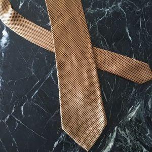 Brioni silk geometric tie made in Italy